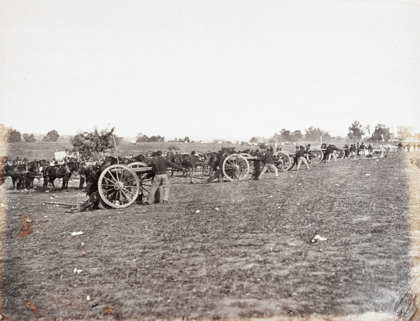 Battery D, 5th U.S. Artillery, in Action